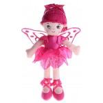 """Мягкая игрушка """"Кукла балеринас крыльями малиновая 35 см"""""""