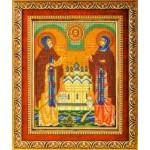 Вышивка бисером Святые Петр и Феврония (Кроше)