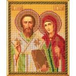 Вышивка бисером Святые Киприан и Устинья (Кроше)