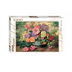 Пазлы 1500 элементов.  StepPuzzle Цветы в вазе