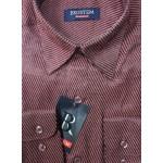 Рубашка с длинным рукавом Полоска яркая, бордовая
