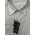 Рубашка с длинным рукавом однотонная серая