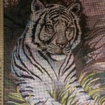 "Канва с рисунком Collection D'art  ""Белый тигр"" 30*40"