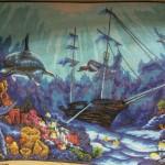 """Канва с рисунком Collection D'art """"Затонувший корабль"""" 40*50"""