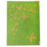 """Обложка для паспорта """"Бабочки"""" 13,7*9,6см кожзам"""